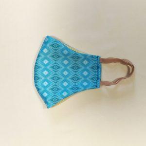 Текстилна предпазна маска с принт Blue path